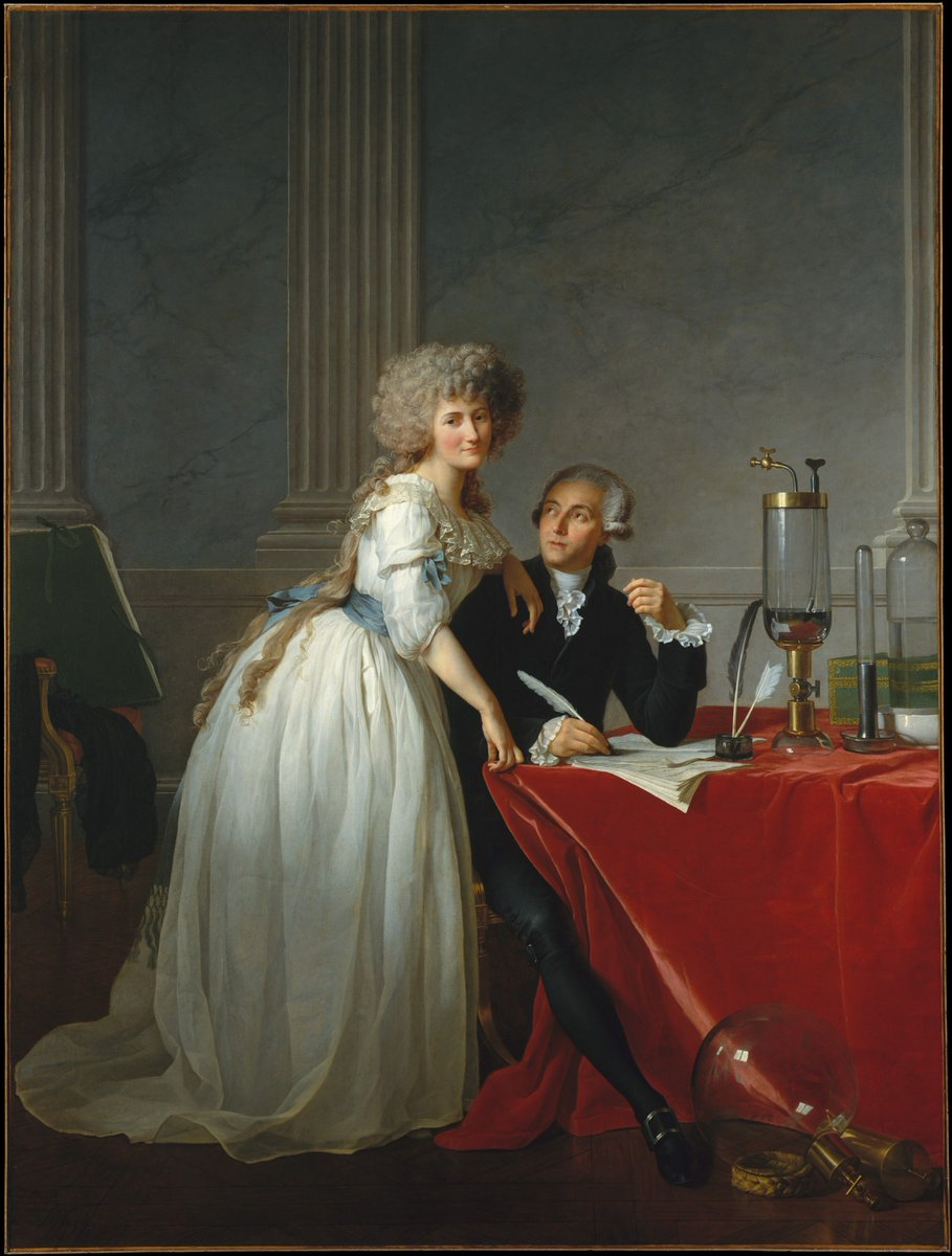 This double portrait dates to 1788, when Jacques Louis David was the standard-bearer of French Neoclassicism. For political reasons, Lavoisier was obliged to withdraw it from the 1789 Salon, and it was not exhibited for a century. https://t.co/KSTTiZMOKw