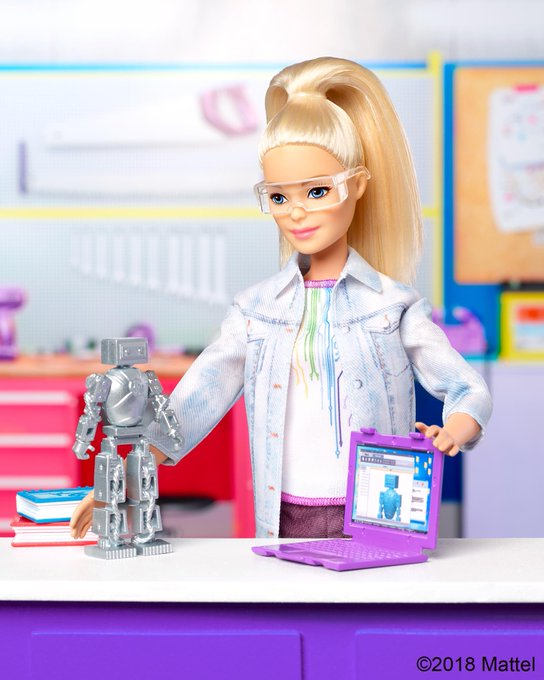 Give a little one the tools she needs to tinker away on a big #SundayFunday project! ⚙ Shop the Robotics Engineer dolls now! Photo