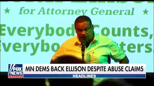 Minnesota Democrats backing @KeithEllison despite abuse claims. https://t.co/ygGTUupYO8