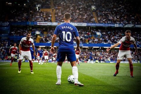 """Eden Hazard -    """"Everybody know what I have said after the World Cup. But I'm happy here. I don't want to talk about it yet. A lot has been said, but at the moment I'm happy. I have two years left on my contract and we'll see what happens. Leaving this year? I won't go."""" <br>http://pic.twitter.com/M08FaynuAy"""