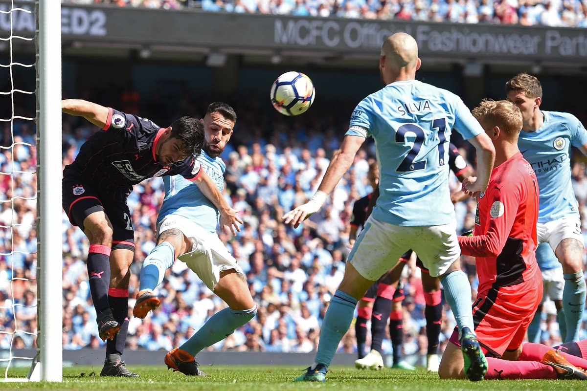 17 - Manchester City have scored in 17 of their last 18 Premier League games (47 goals in total), failing only against Huddersfield in May. Repeat?