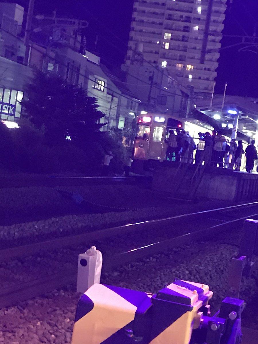 西武池袋線の大泉学園駅付近で人身事故の現場の画像