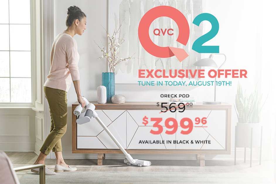 Check out our latest cordless innovation, the POD Cordless Vacuum, on QVC2 tonight from 11-12pm EST. Tune in for a live product demo and an exclusive offer you won't want to miss! #OreckPOD #Oreck #QVC2 #SpecialOffer https://t.co/RuMWyfUhzk