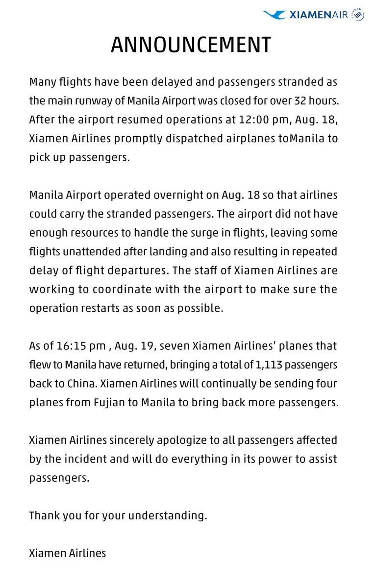 Ο χρήστης Xiamen Airlines στο Twitter: