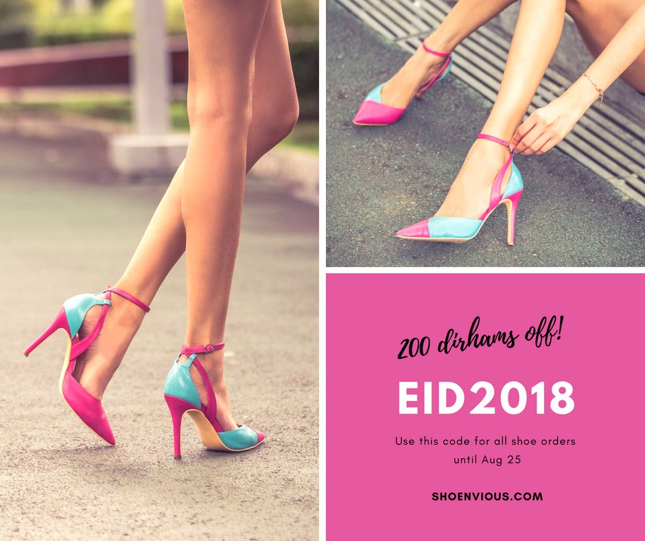 Celebrate Eid in style. Design your dream pair and enjoy 200 AED (52 USD) off on all shoe purchases until Aug25.  How to design your shoes: https://t.co/Y97j5WiKcW  Customise this beautiful pair: https://t.co/f1j9fOw91P  #eidsale #eid2018 #luxuryshoes #bespokeshoes https://t.co/Fidv83YaoR