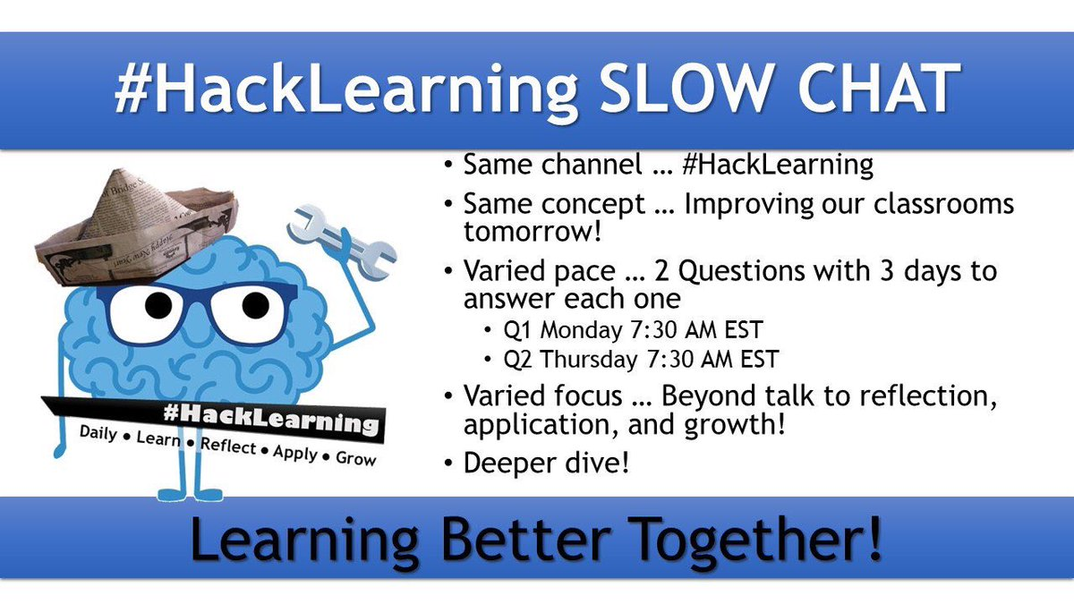 Looks like a good week to keep chatting at #HackLearning ... will you join the conversation?
