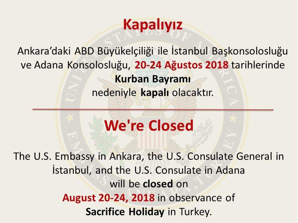 US Embassy TurkeyVerified Account