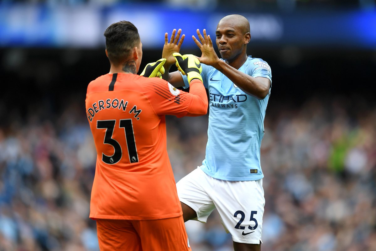 1 - Ederson is the first Manchester City goalkeeper to assist a Premier League goal. Creative.
