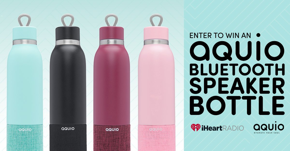 a0185c0fb4 Enter now for your chance to win this ultra-versitible Aquio water bottle  and Bluetooth speaker! 💧: https://t.co/LFaH298yvU… https://t.co/v4w9Dmtuc8