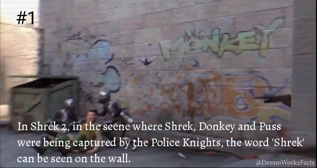 Dreamworksfacts On Twitter In Shrek2 In The Scene Where Shrek Donkey And Puss Were Being Captured By The Police Knights The Word Shrek Can Be Seen On The Wall Dwa Eastereggs Https T Co Kbtxtqdhma