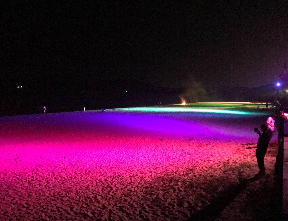 虹ケ浜のライトアップ見てきました とても綺麗でした https://t.co/5PYoyhhILn