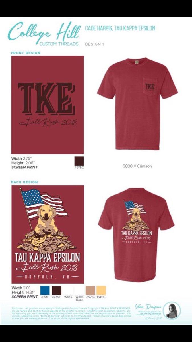 Tau Kappa Epsilon On Twitter Fall Rush Shirts Tell Any Brother