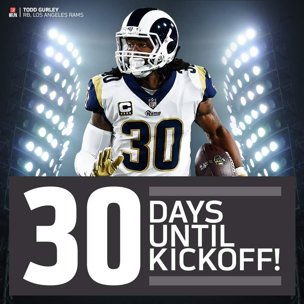 3️⃣0️⃣ days until #NFLKickoff with @RamsNFL RB @TG3II