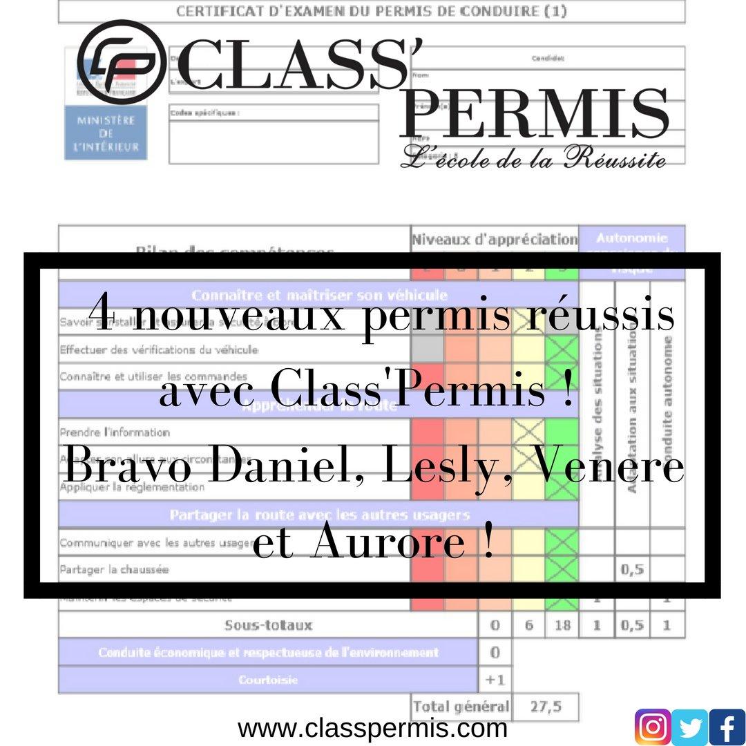 Classpermis A Twitter Léquipe Classpermis Félicite Ses
