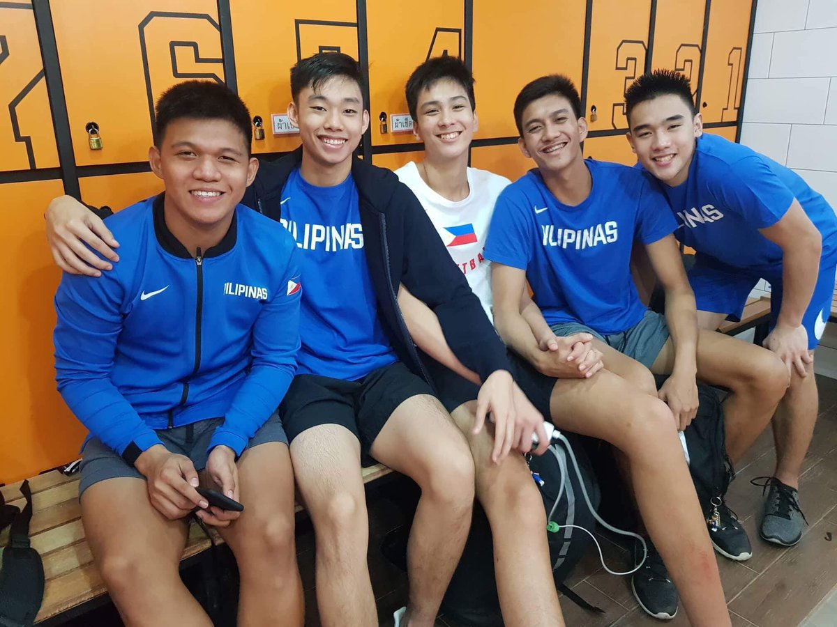 All smiles after the big victory over China! #LabanPilipinas #FIBAU18Asia