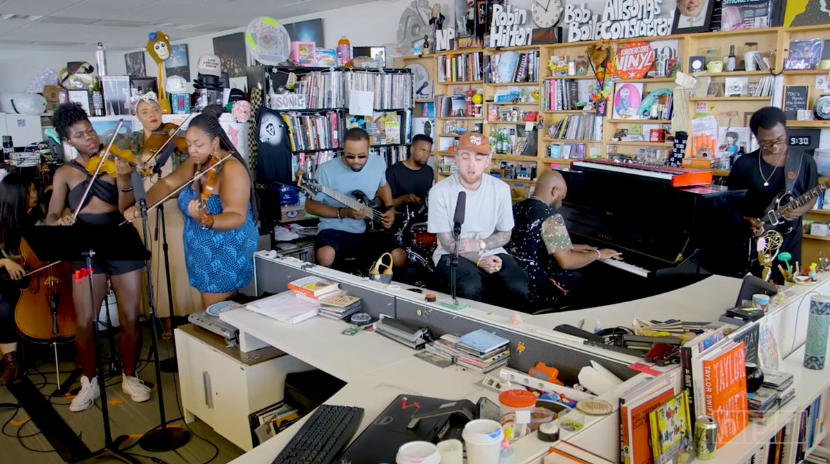 Mac Miller performing 2009 on Tiny Desk Concerts.