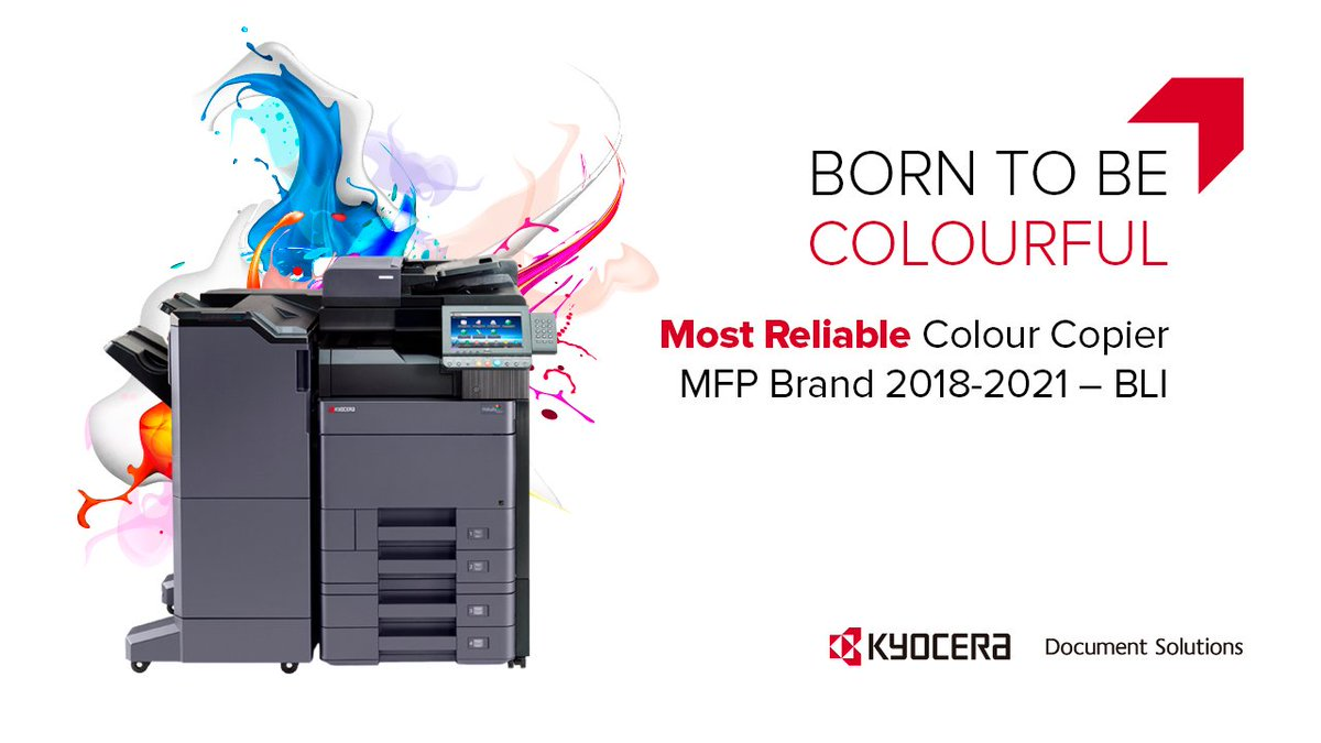 "KYOCERA Document Solutions Europe on Twitter: ""? Colourful by nature – KYOCERA's colour MFPs have won the inaugural award for 'Most Reliable Colour Copier MFP Brand' by @BuyersLab. ? All of KYOCERA's"