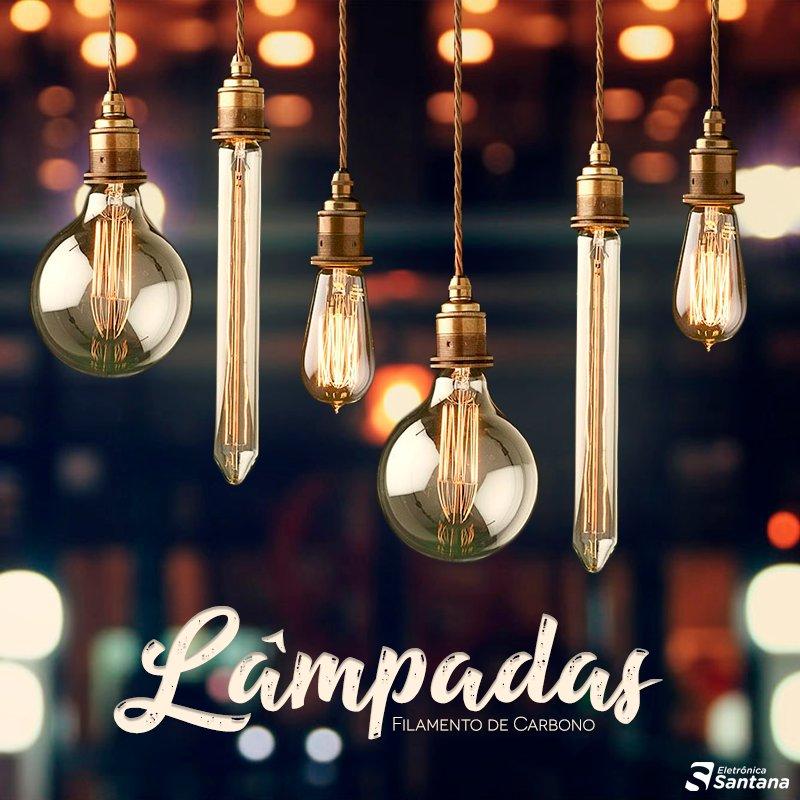 Dê um toque super especial em sua decoração com nossas lâmpadas de filamento de carbono.   Os melhores preços estão aqui: https://t.co/Krs6X1fxJN https://t.co/YnIzAuKlOS