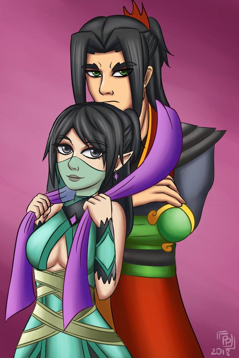 Zhing II Miss drawing these two. @PaladinsGame @PaladinsFanarts #zhin #ying
