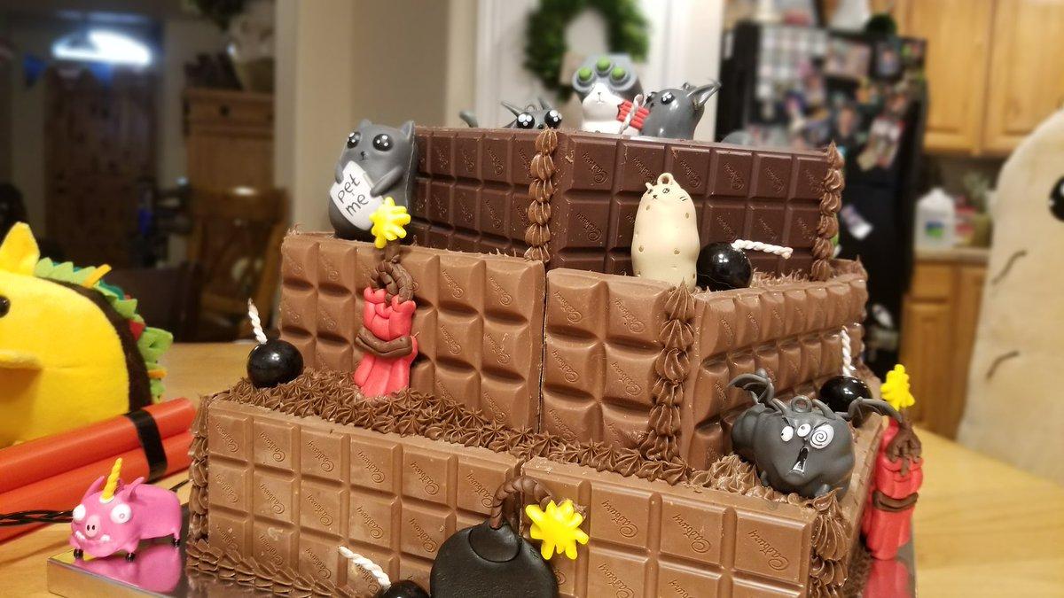 Surprising Kris On Twitter Oatmeal Exploding Kittens Birthday Cake Funny Birthday Cards Online Elaedamsfinfo