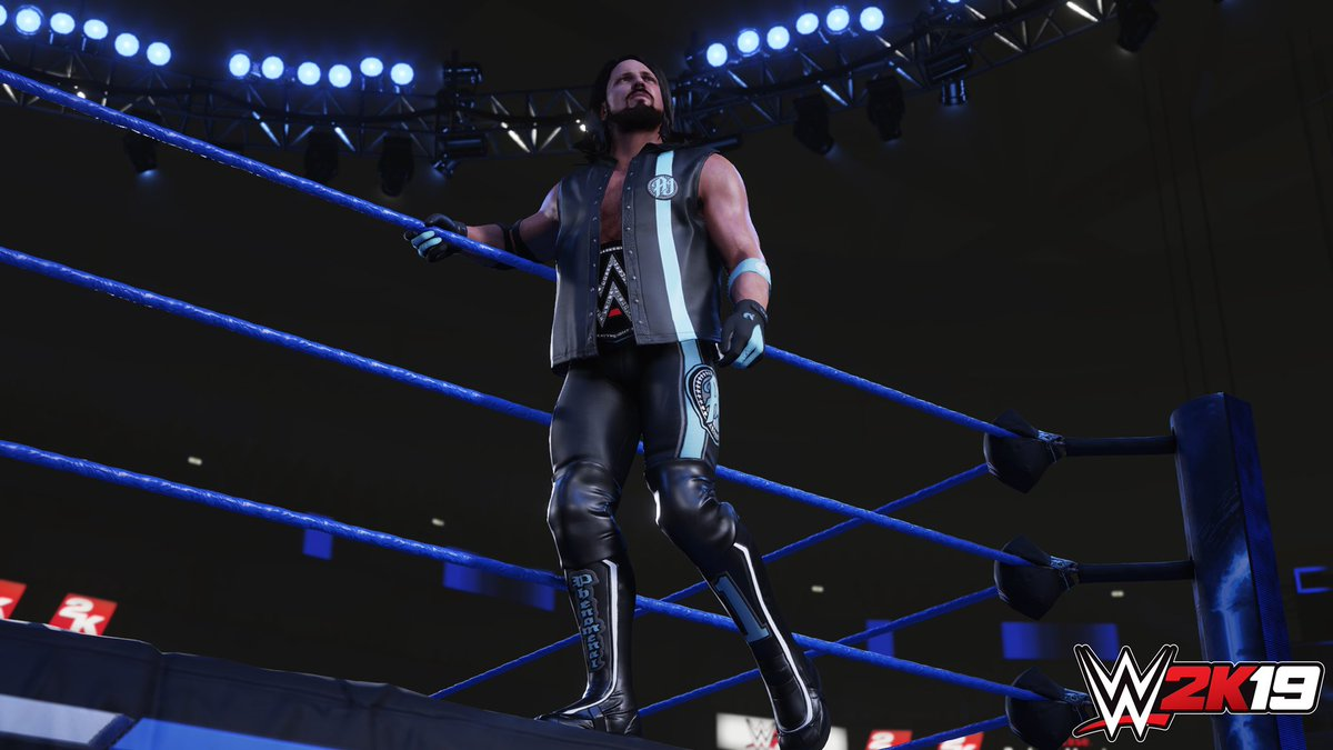 As #WWE2K19 cover Superstar, I have dibs on releasing the first screenshot. wwe.2k.com/preorder/ #ad