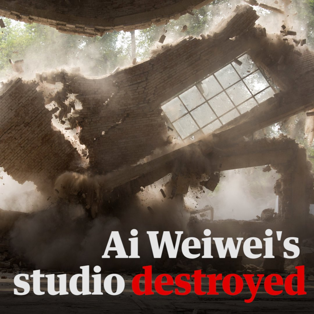 This is Ai Weiwei's Beijing studio being destroyed by Chinese authorities https://t.co/AV66gctbQo