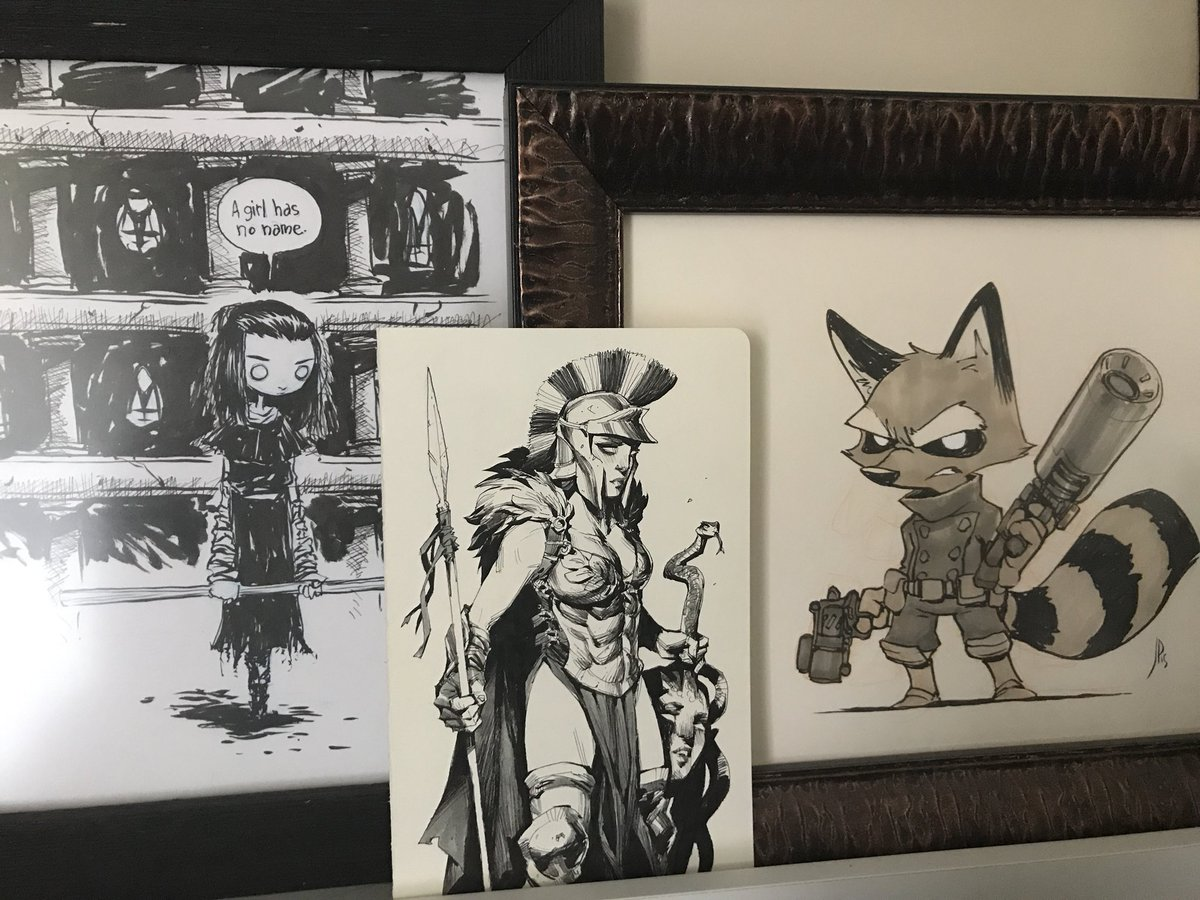 @andrewkmar She's going to keep my pieces by Skottie Young and Jake Parker company!