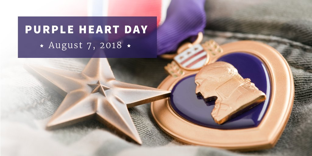 The Purple Heart honors U.S. Service Members who were wounded or killed while protecting our country. Today and every day, we remember these heroes and thank those who have served.