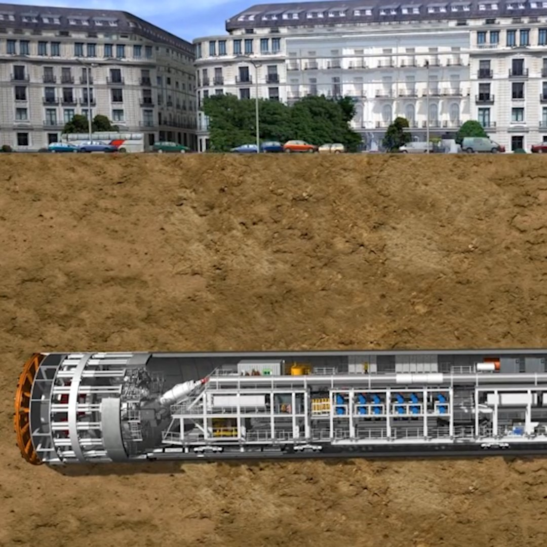 This is how subway tunnels are made