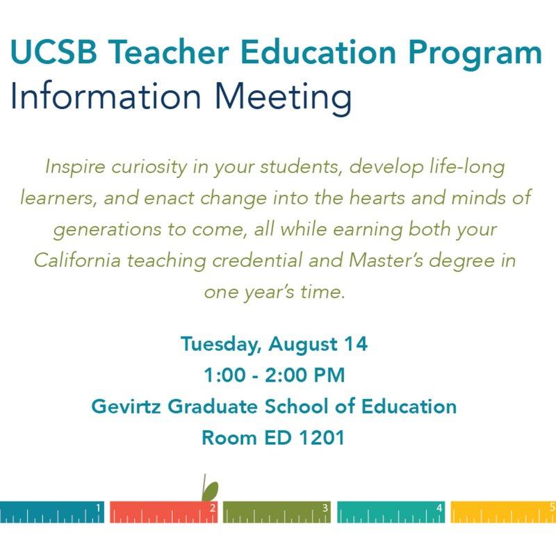 UCSB Teacher Education (@TEPatUCSB) | Twitter