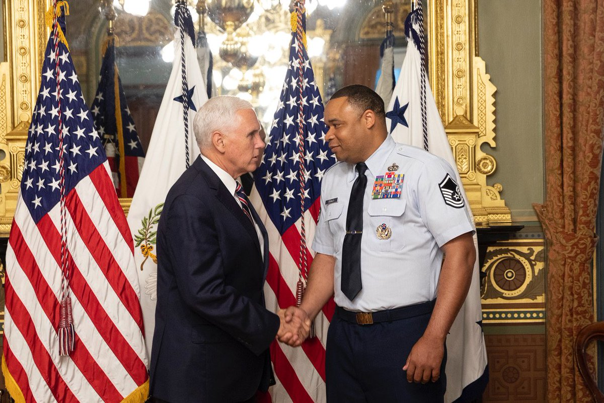 Personally grateful to a member of our team, @USAirForce Senior Master Sergeant Naeem Stanley, who received a Purple Heart for injuries he sustained in 2005 while leading a convoy in Iraq. Today, we honor his sacrifice and commitment to our nation. #PurpleHeartDay