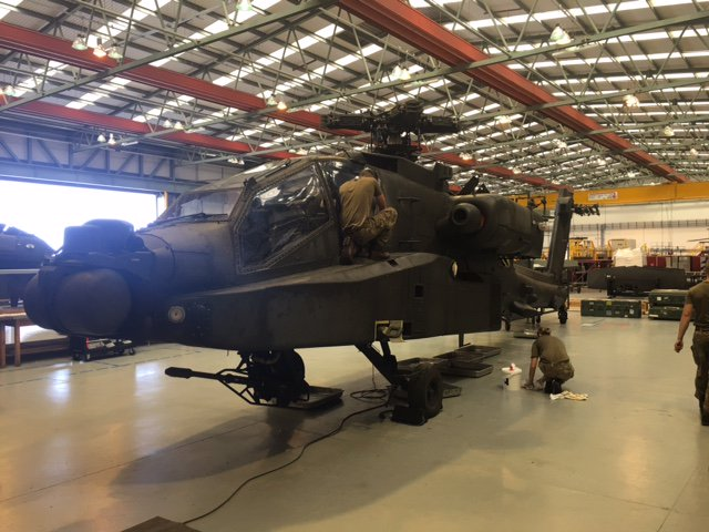 Apache Attack Helicopters Of 664 Squadron 4 Regiment Army Air Corps Are Being Prepared
