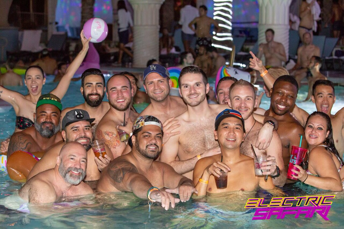 Lgbt pride pool party get wet and wild with six out stage stars