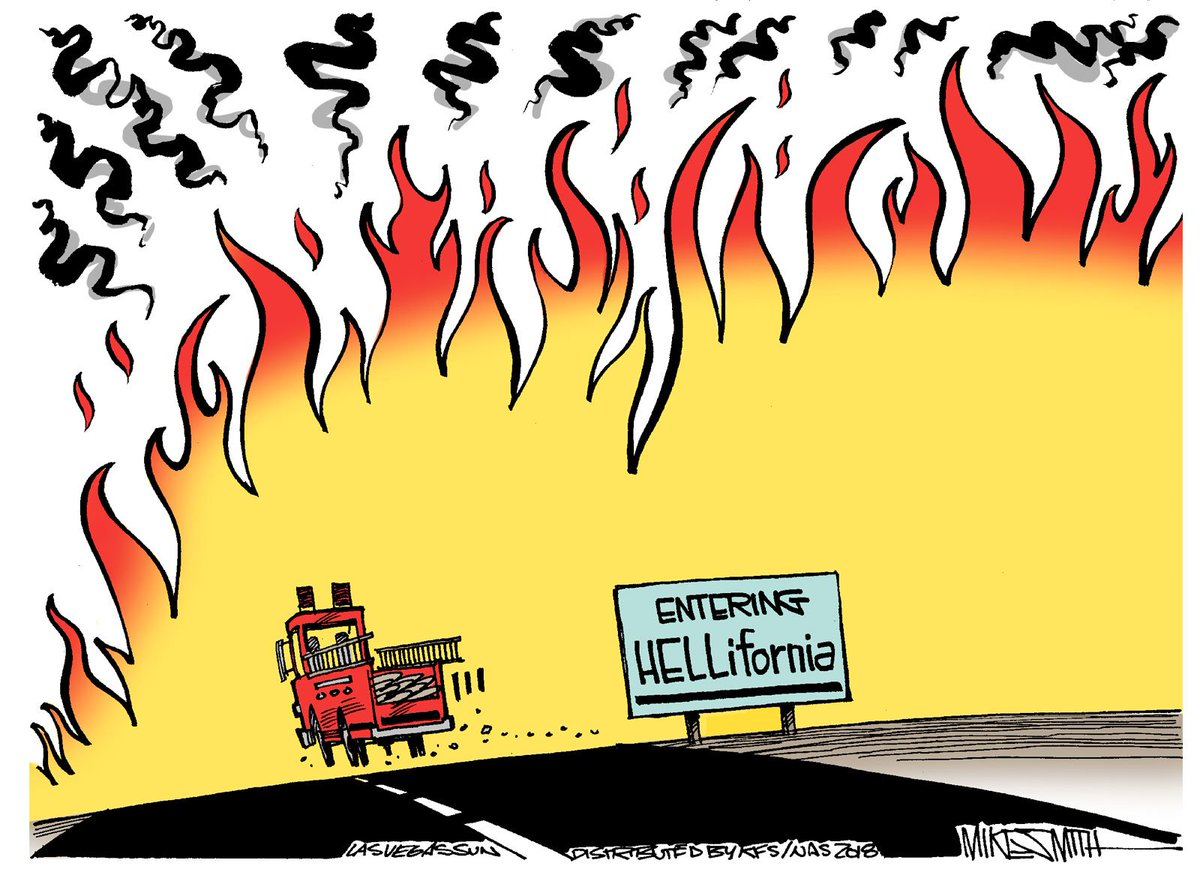 The California fires in today's cartoon. #firefighters #CaliforniaWildfires #California https://t.co/3IfREziY7b