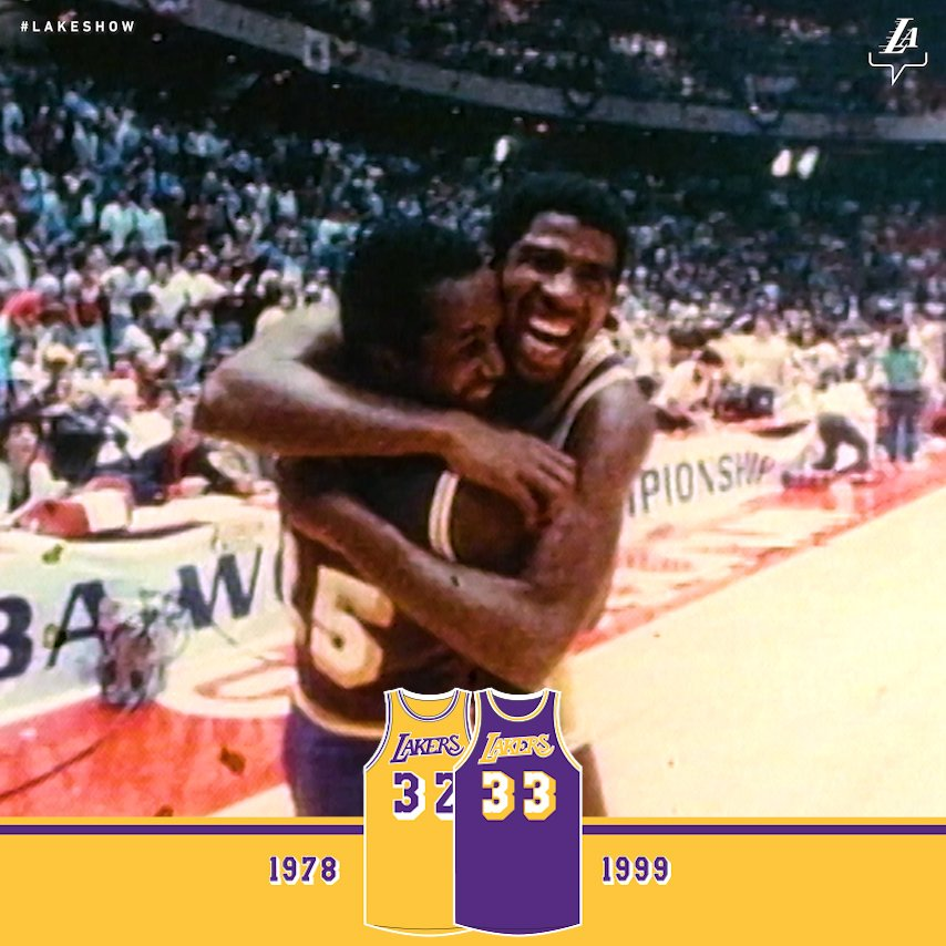 An iconic look for every era #LakeShow  presented by @WishShopping