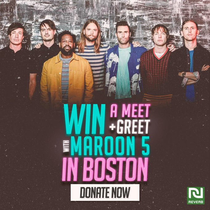 Maroon 5 twitter photos on twiends want to win a trip to meet us at our show in boston with a 10 donation to reverborg you will earn 100 entries to hang with us backstage before our show m4hsunfo