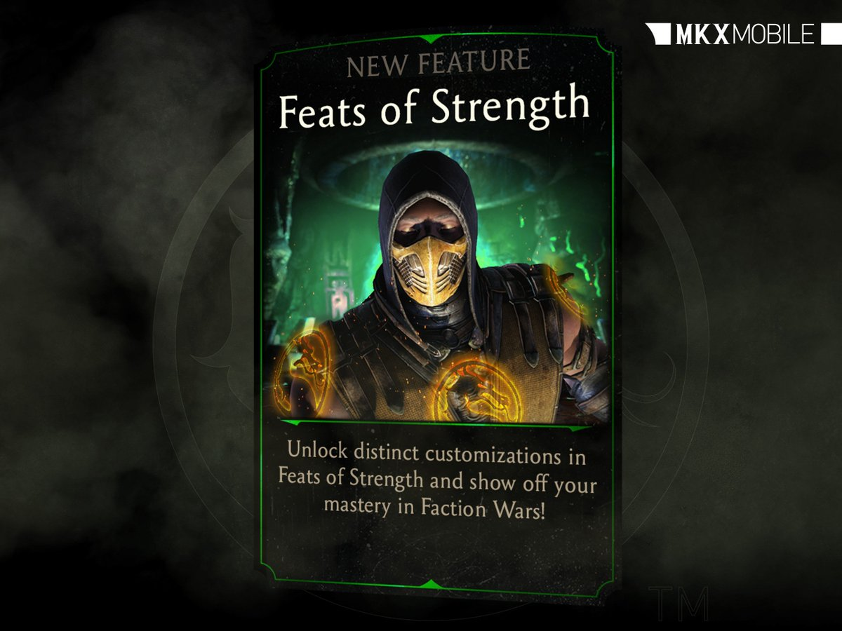 Feats of Strength is coming soon to #MKXMobile! For a chance to win Blood Rubies tell us your greatest Feat of Strength. Must RT and type #Sweepstakes to qualify! Rules: go.wbgames.com/MKXMobileStrea…