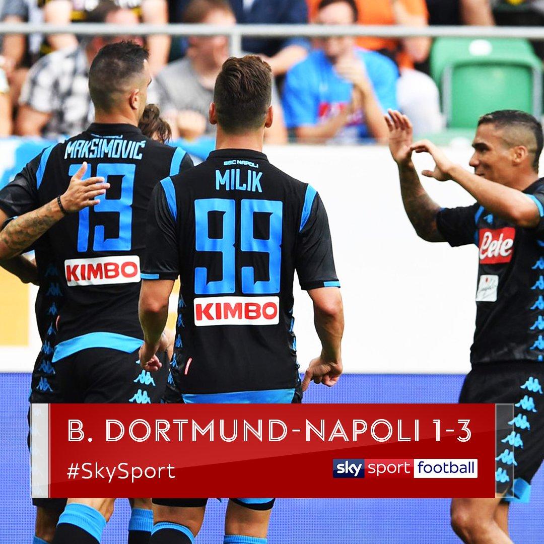 Il #Napoli batte il #Borussia A segno #Milik e #Maksimovic nel primo tempoChiude la partita #Callejon nel recupero#SkySport  - Ukustom