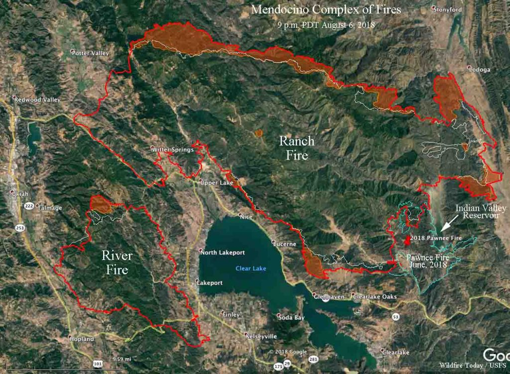 Wildfire Today On Twitter Mendocinocomplex Of Fires Grows