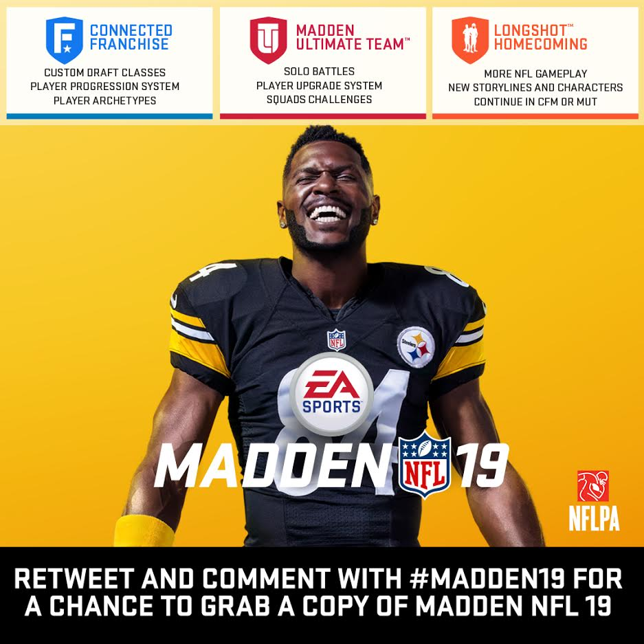 e25f85428 RT or comment for a chance to win a copy of  Madden19. I ll randomly give  away one PS4 and one Xbox One copy later.pic.twitter.com OyNobZQIeE