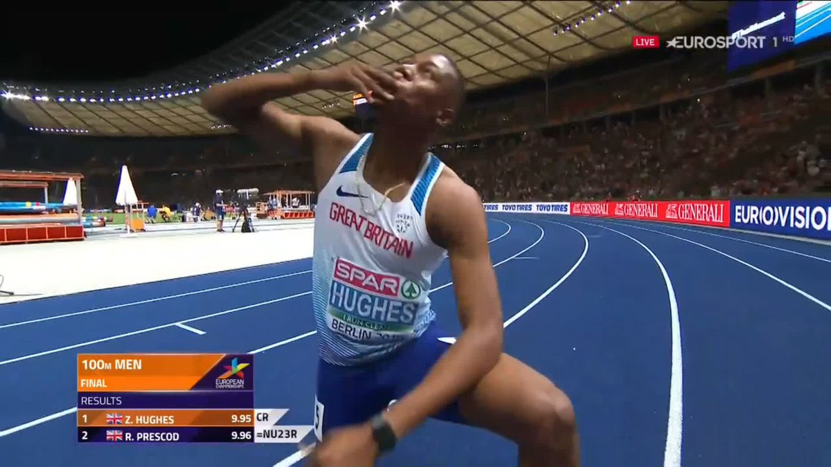 EK atletiek 2018: finale 100 meter mannen