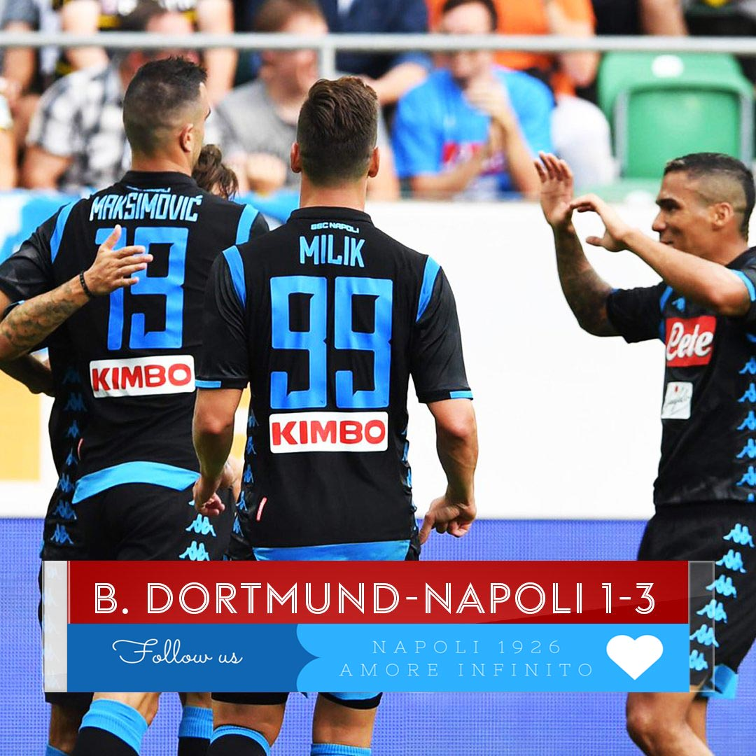 Il #Napoli batte il #Borussia 3-1 A segno #Milik  #Maksimovic e #Callejon #BvBNapoli   # #  - Ukustom