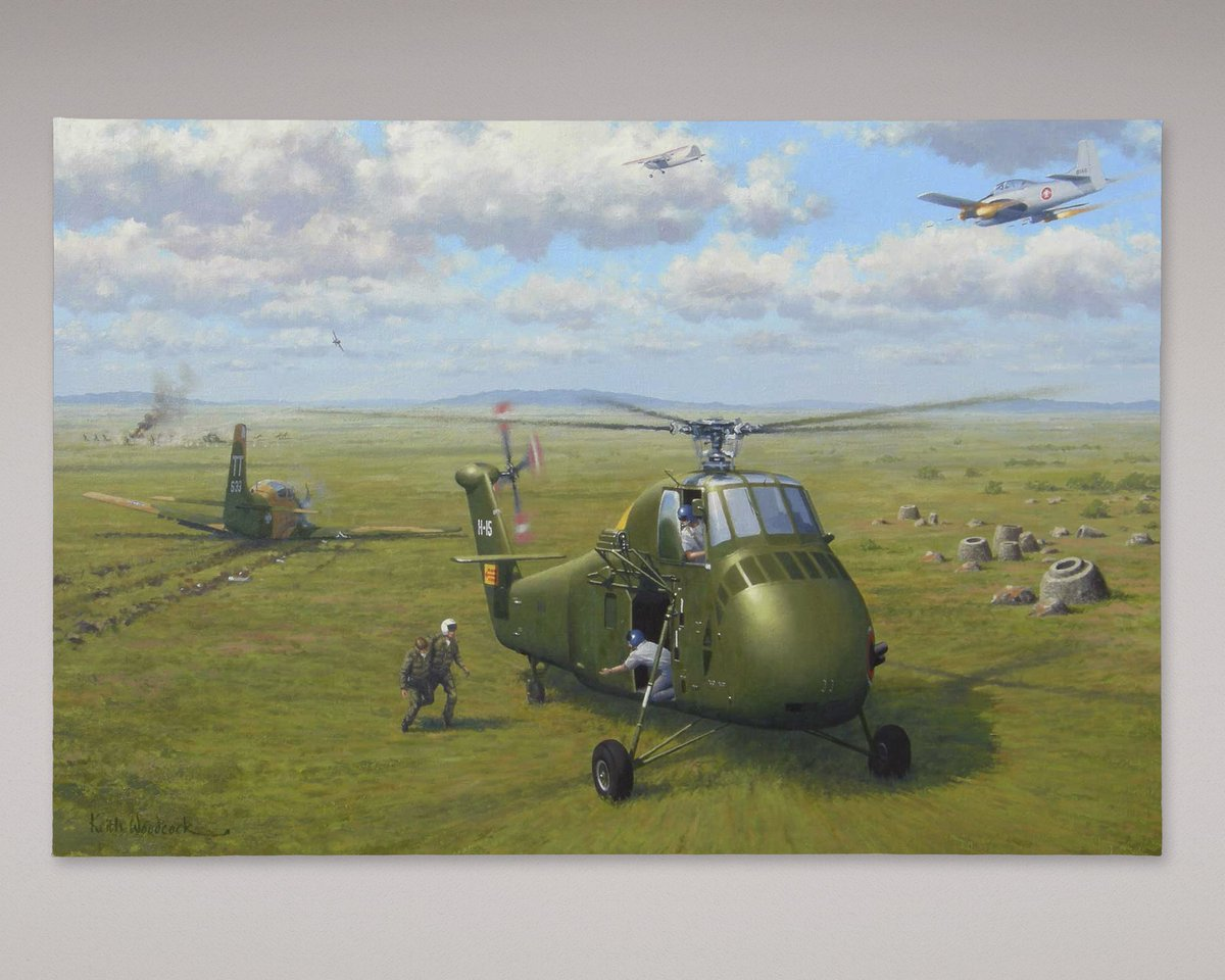 CIA #Museum Artifact of the Week:  The Airmen's Bond #Painting by Keith Woodcock  2008 Oil on Canvas  https://t.co/5HCOhMoib0