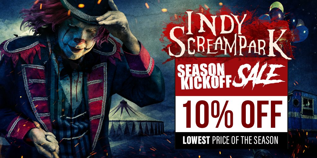 Indyscreampark On Twitter Save 10 Now Lowest Prices Of The Season Starting Today Get Tickets To Indy Scream Park For The Lowest Prices Of The Season By Using The Promo Code