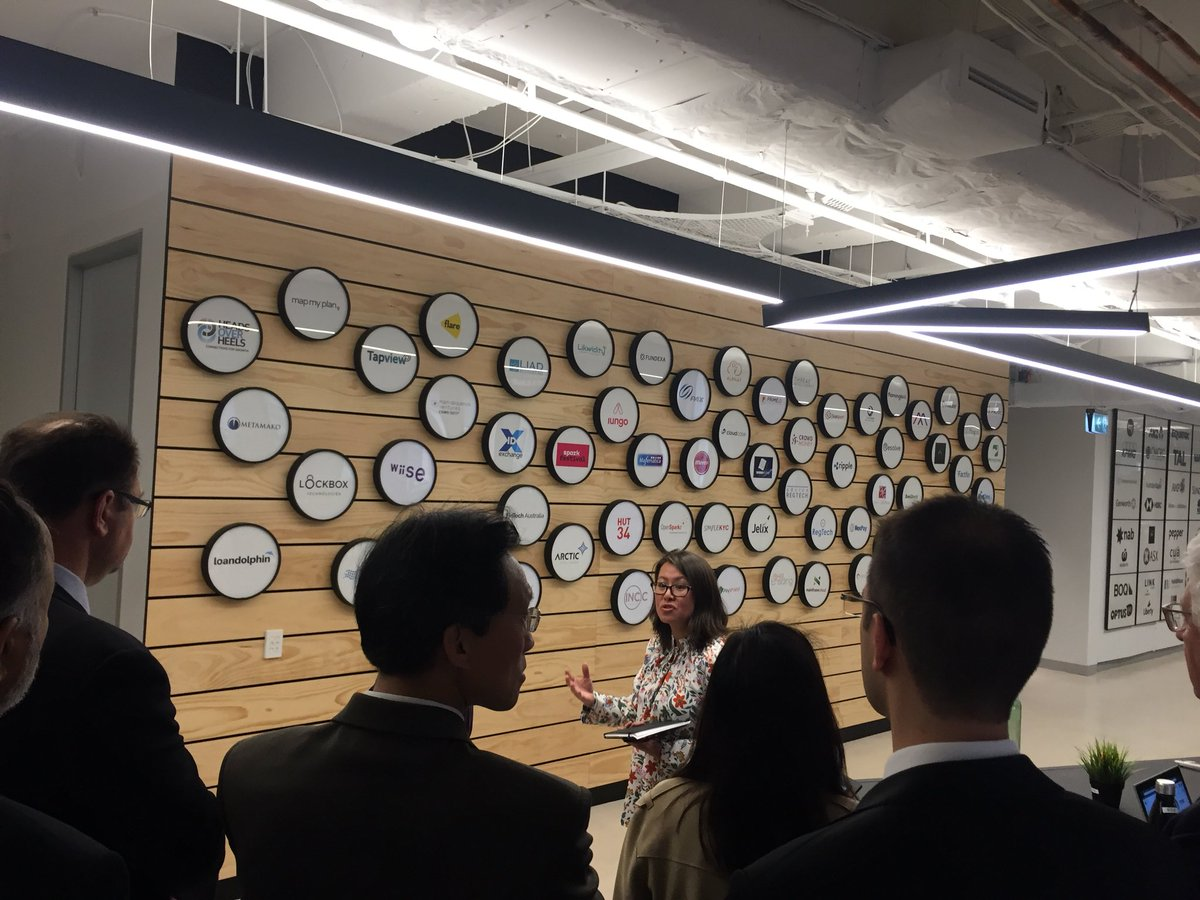 #Sydney aims to be one of the world's top 10 #innovation centres - and that means connecting Australia's leading innovators with the world 🌎 Today, we took Consuls-General from 25 countries to @sydstartuphub to see what that means for #startups and #SMEs