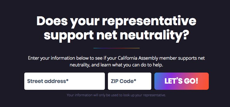 Want to advocate for #NetNeutrality in your part of California? Check out battleforthenet.com/california/ #WeAreCUE