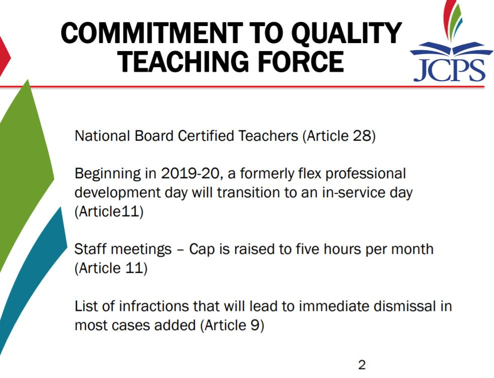 .@JCPSKY leaders are currently sharing with board members some key highlights of the new contract agreement: