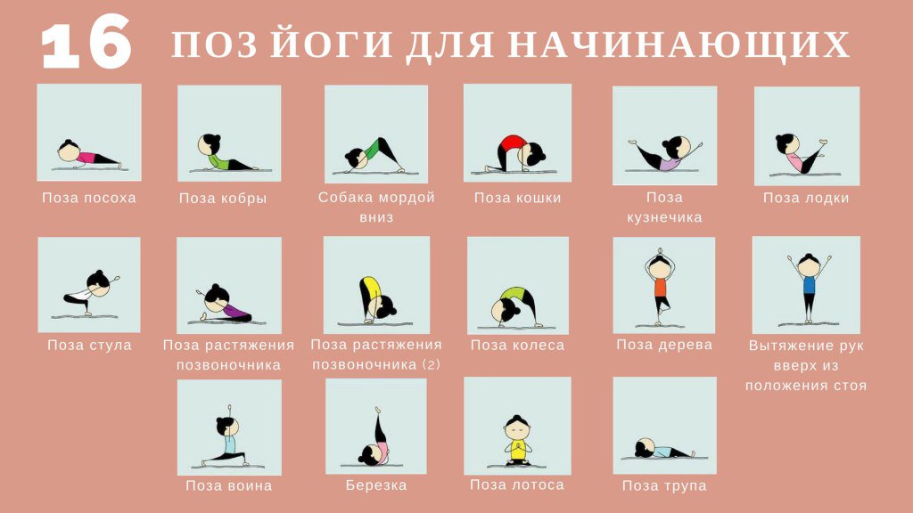 Йога картинки и названия поз