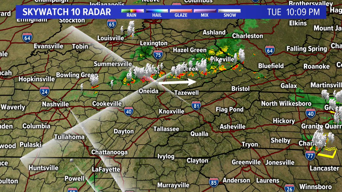 Wbir Weather On Twitter Radar Update 10pm Showers And Storms