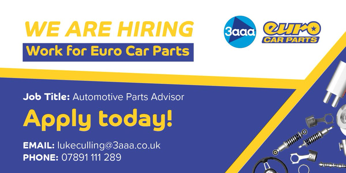 3aaa Apprenticeships On Twitter Euro Car Parts Are Offering You